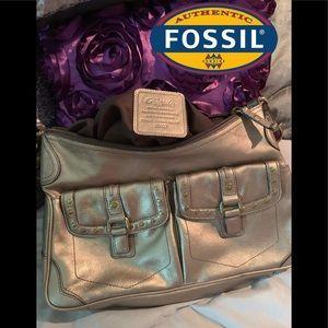 Fossil Gold Metallic shoulder bag